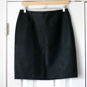 Black genuine leather skirt Newport News